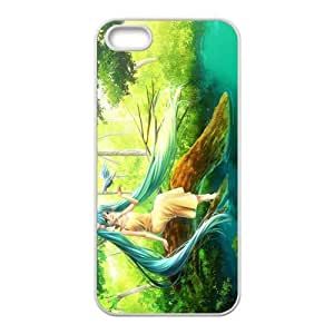 Japanese Anime Sweet Hatsune Miku Music Girl in Forest For iPhone 5 / iPhone 5s Custom Case Cover