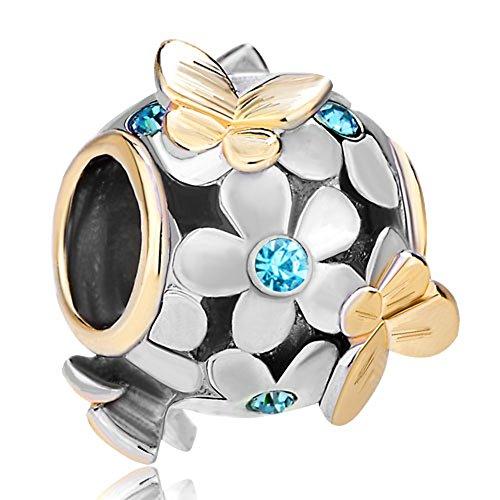 CharmSStory Butterfly Birthstone Crystal Bracelet
