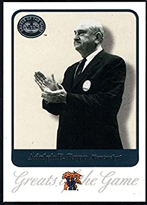 Basketball NBA 2001 Fleer Greats of the Game #1 Adolph Rupp CO