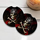 Anne Stokes Pirate Skull | Car Coasters for drinks