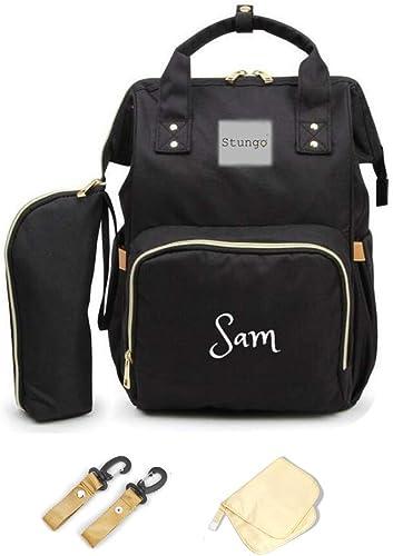 Amazon.com: Set de bolsa de pañales personalizable grande ...