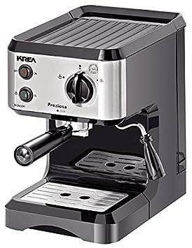 KREA ES150 Independiente Semi-automática Máquina espresso 1.25L 1tazas Acero inoxidable - Cafetera (