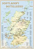 Whisky Distilleries Scotland - Poster 70x100cm Premium Edition: The scotisch Whisky Landscape in Overview