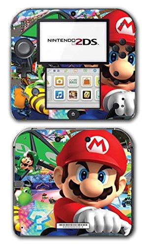 Mario Kart 8 Luigi Yoshi 7 Bowser Glider Video Game Vinyl Decal Skin Sticker Cover for Nintendo 2DS System Console