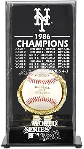 [Mounted Memories New York Mets 1986 World Series Champs Display Case] (Mets Display Cases)