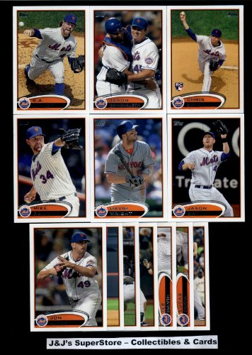 Mets Complete Team Set (Sealed) - (Series 1 & 2) - 21 Cards including David Wright, Santana, Torres, Francisco, Gee, Satin RC, Jason Bay, Ike Davis, Dickey, Turner & more! (2012 Topps Series)
