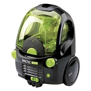 IMETEC Eco E1 - Aspirador, clase A, 2000 W, tecnología ciclónica, color negro y verde