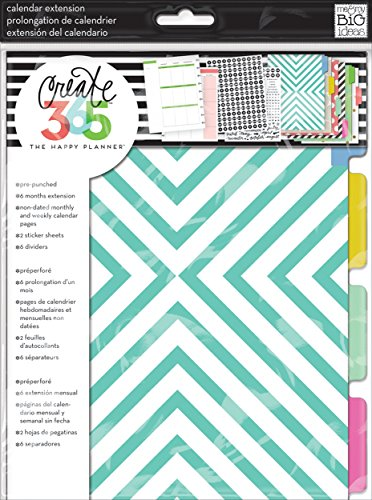 (me & my BIG ideas Create 365 The Happy Planner Six Month Extension Pack)
