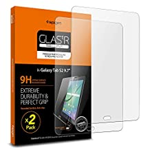 Galaxy Tab S2 Screen Protector, Spigen®[9.7 inch - Tempered Glass] [2 Pack] Samsung Galaxy Tab S2 [9.7 inch] Glass Screen Protector [Easy-Install Wing] - 2 Pack