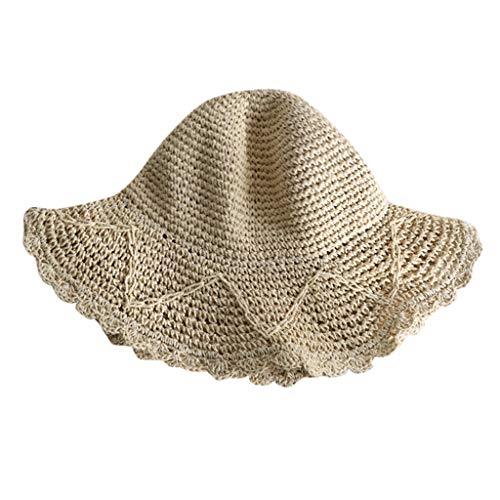 Weiliru Women Casual Wide Brimmed Straw Beach Hat Parent-Child Outing Hat]()