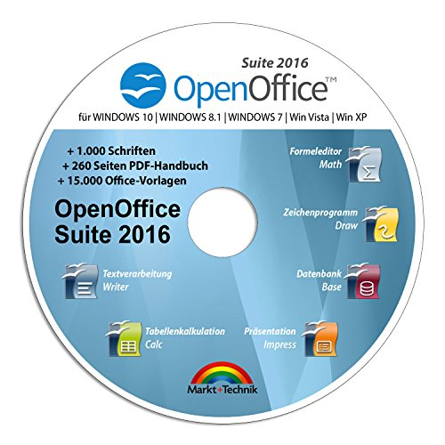 Open Office Suite 2016 Home Student Professional - 100% kompatibel mit Microsoft® Office® Word® und Excel® für Windows 10-8-7-Vista-XP