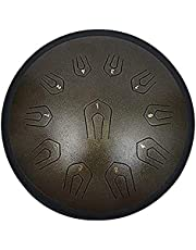 Steel Tongue Drum,Lotus Hand Pan Drum Percussion Instrument,with Drum Mallets Note Stickers Finger Picks Mallet Bracket and Gig Bag, Tone is Ethereal and Quiet-B