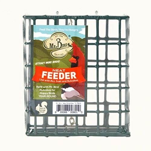 (Mr. Bird's Neatfeeder Hanging Suet & Seed Block Holder Bird Feeder)