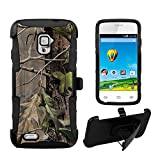 Shell Case Armor Kombo For ZTE Rapido LTE Z932L Hybrid PC Silicone Build-in Kickstand Belt Clip Holster Hunter Tree Camo