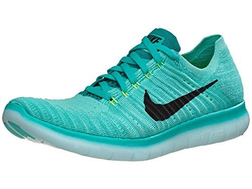Nike Wmns Free Run Flyknit 307 Hyper Turq / Zwart-volt-rio Wintertaling