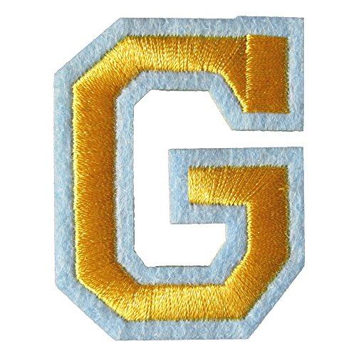 アイロンワッペン アルファベット G 金の商品画像