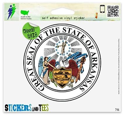 amazon com arkansas state seal flag vinyl car bumper window sticker