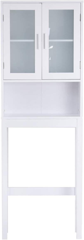COSTWAY Estante para Baño Inodoro Toallero Estantería Alta para WC Ducha Mueble Almacenaje Organizador Blanco