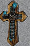 decorative wall cross, small southwest, handmade cross, wooden cross, one of a kind cross, wall cross