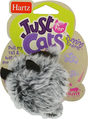 Hartz Just For Cats Running Rodent Vibrating Plush Mouse Cat (Rodent Cat Toy)