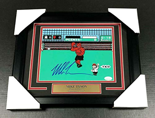 (IRON MIKE TYSON AUTHENTIC SIGNED AUTOGRAPHED 8X10 PHOTO FRAMED PUNCH-OUT JSA COA)