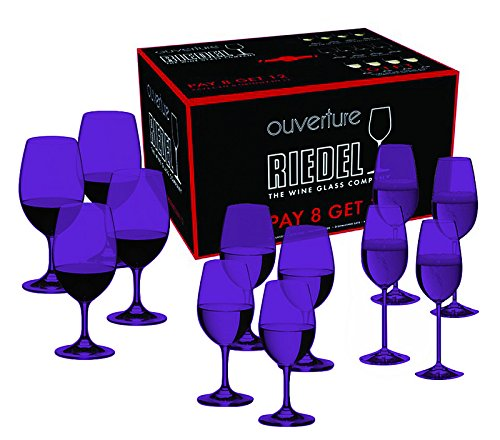 Full Purple Color Riedel Ouverture Red and White Magnum Glass and Champagne Flute by TableTop King