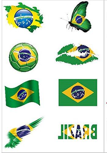 Hemore Tatuajes de fútbol [8 Piezas] 2018 Copa del Mundo de fútbol ...