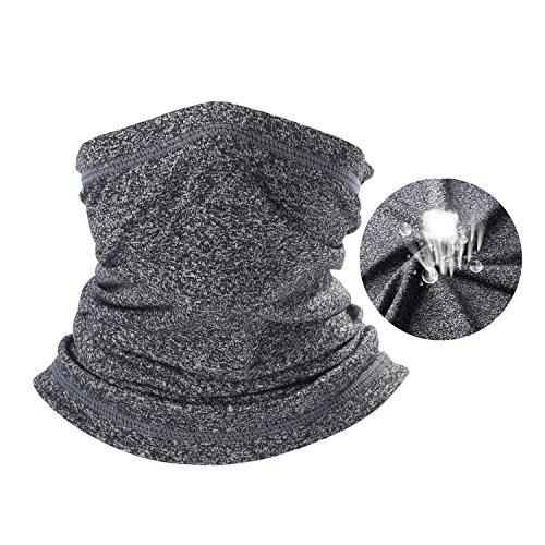 (SUNMECI Neck Gaiter Warmer Windproof Mask Dust - Free UV Face Mask Black)