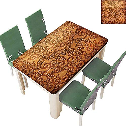 Printsonne Solid Tablecloth Carved Wooden Ornament(You can find More templates and Textures in My Portfolio) Table Cover 54 x 102 Inch (Elastic Edge) ()