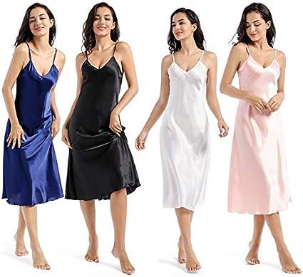 JK Home Stain Full Slip Mini//Midi Vestido Camis/ón con tirantes ajustables para mujer