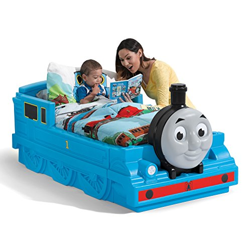 Step2 Thomas The Tank Engine Toddler Bed - Durable Plastic Beds for Boys - Blue