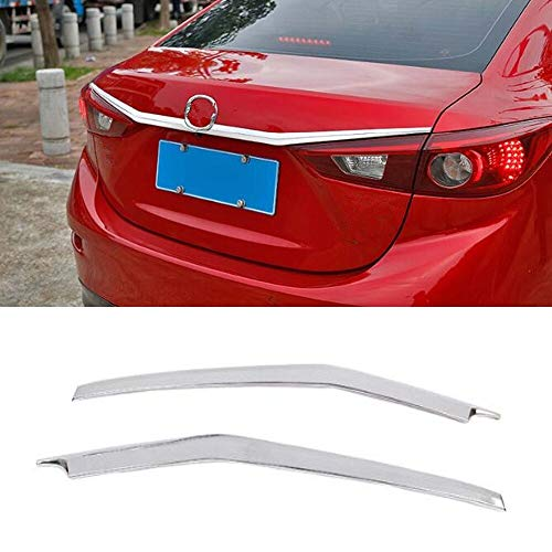 Fit For Mazda 3 Axela Sedan 4dr 2014 2015 2016 2017 2018 Car Rear Trunk Door Strips Styling Trim Bumper Cover Stickers 2Pcs ABS