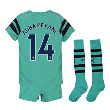 1ccf8f60916 Amazon.com   UKSoccershop 2018-2019 Arsenal Third Little Boys Mini ...