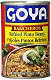 Goya Foods Rancheros Refried Pinto Beans, 16-Ounce