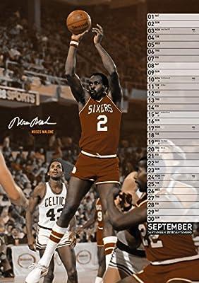 Basketball Legends 2018 Calendar: Amazon.es: Jordan, Michael, Bird ...