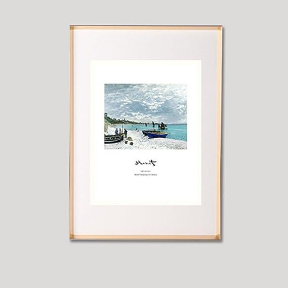 Bbdsj Portaretrato de Metal Marco de Aluminio,Estrecho Borde Cuadro de Poster Marco de Fotos Colgante Pared Mesa Rompecabezas Tipo 5 Color Opcional-A ...