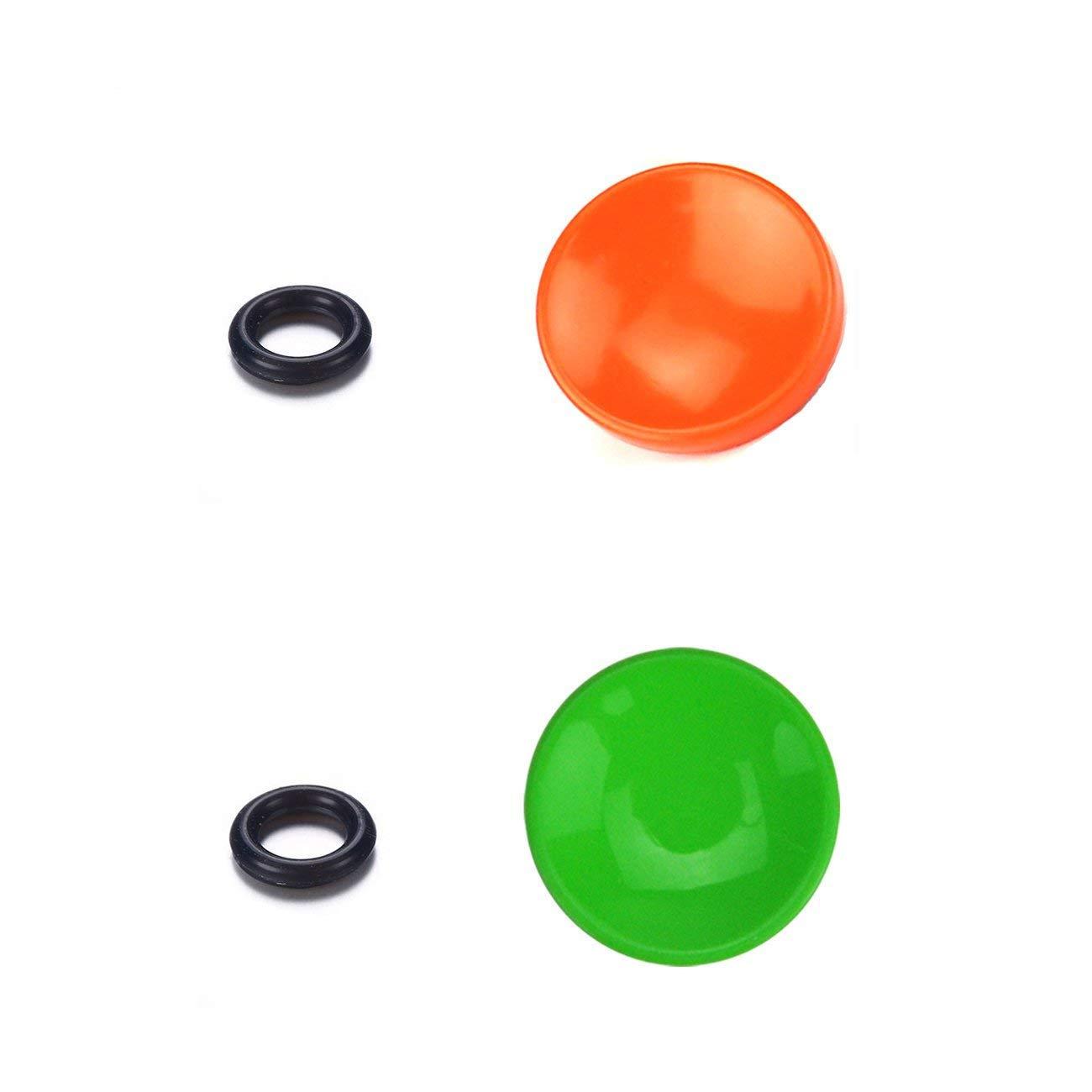 LXH Camera 10mm Metal Brass Convex Shape Shutter Button Upgrade (Red+Black+Yellow+Green. 4 Piece) - Perfect Alternative to Soft Shutter Release Buttons For Fujifilm X100F X-T20 X-PRO2 XPRO-1 X30 X100T X100S X-E2 X-T10 STX-2 / Leica M Rangefinder Cameras M3