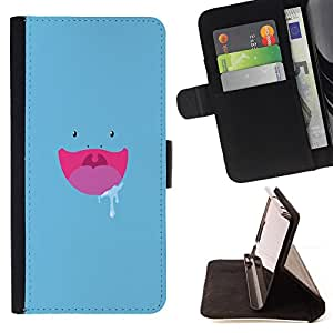 Jordan Colourful Shop - Blue Hungry Face For LG Nexus 5 D820 D821 - Leather Case Absorci???¡¯???€????€??????????&fn