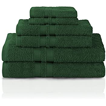 Amazon Com 6 Piece Towel Set Hunter Green Home Amp Kitchen