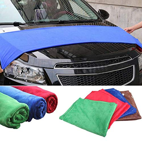 Colmkley Microfiber Cloth Clean Any Surface Eco Friendly Environmentally Safe Large Perfect for Window, Mirror, Kitchen Counter, Appliances, Car, Cycle, TV Screen ()
