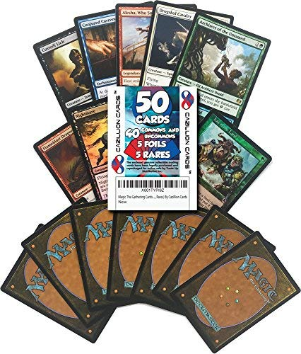 Magic The Gathering Cards 50 Card Assorted Lot (Commons/Uncommons, Foils, Rares) by Cazillion Cards