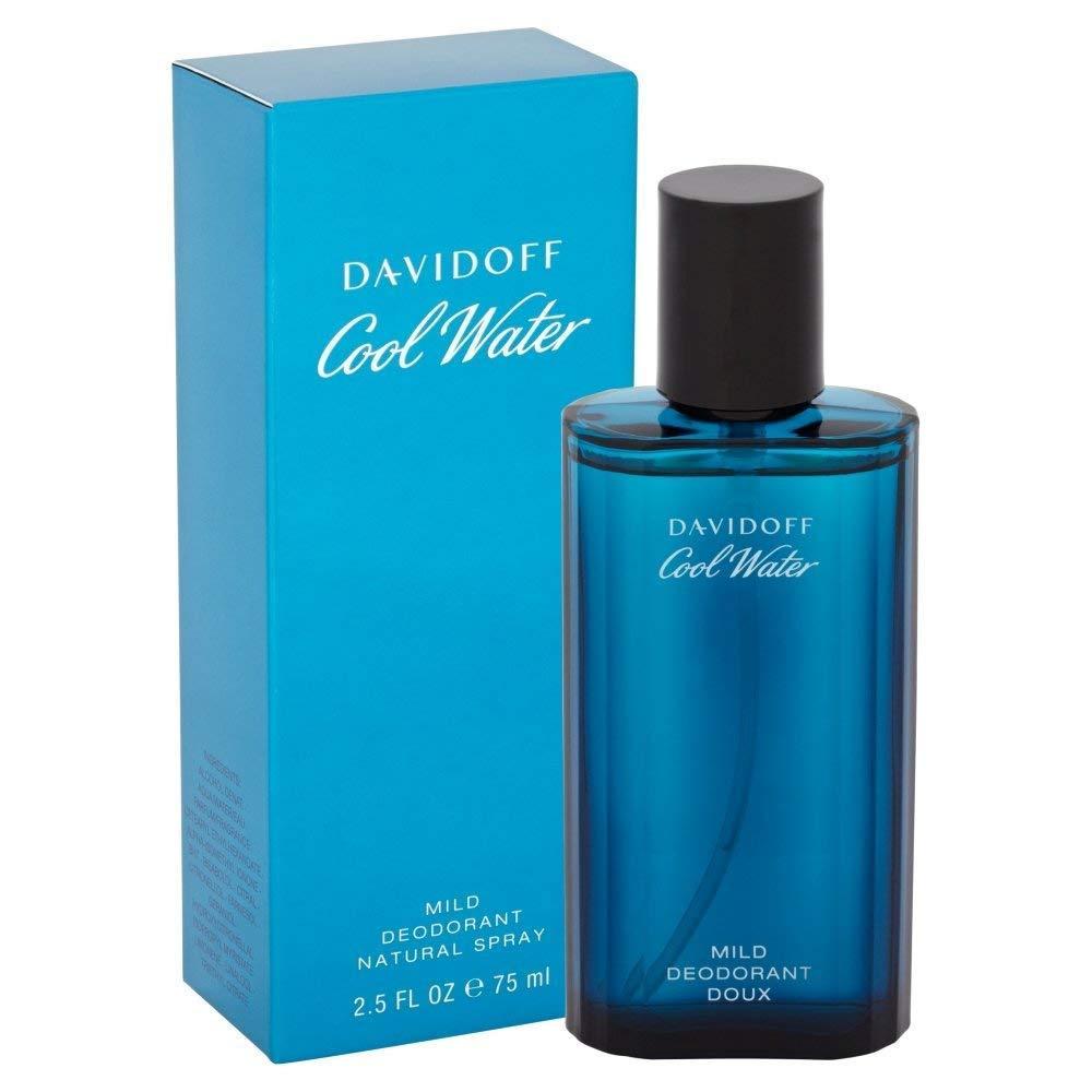 Davidoff Cool Water Deodorante Spray, Uomo, 75 ml 125197 P-Q7-256-75