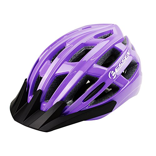 Cheap Essen bike helmet purple women Specialized for road bike helmets women shield CPSC Certified 4Colors Black/Red/Blue/Green Adjustable Lightweight Helmet purple with Reflective Stripe and Removal