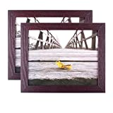 Home Traditions Z01748 Picture Frame with Protective Glass Covering Wall Or Desk Display with Hanging Hardware Included, 8x10-Set of 2, Espresso, 2 Set of