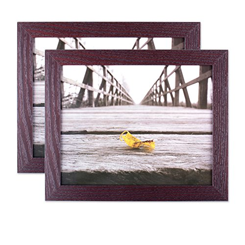 Home Traditions Wall Picture Frame, 8x10-Set of 2, Espresso,