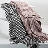 Berkshire Houndstooth Chenille Throw Blanket/brown/white