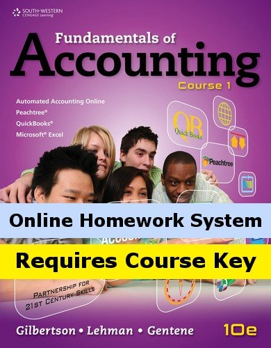 Aplia For Gilbertson Lehman Gentenes Fundamentals Of Accounting  Course 1  10Th Edition