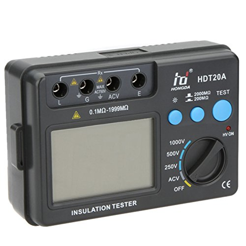 HD HDT20A Insulation Resistance Tester Megohmmeter Voltmeter Electronic Diagnostic-tool 1000V with LCD