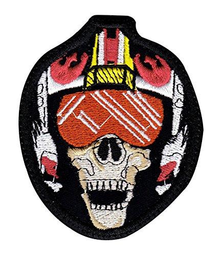 X-Wing Fight Skull Pilot Badge Star Wars Art Tactical Morale Hook+Loop - Pilot Usa Store
