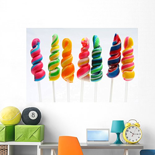 Colorful Twirly Lollipop Wall Decal Wallmonkeys Peel and Stick Business Graphics (60 in W x 40 in H) WM409428